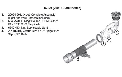 jacuzzi spa ix jet assembly j 400 series 2006 my spa. Black Bedroom Furniture Sets. Home Design Ideas