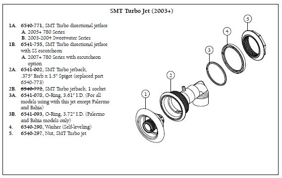 SUNDANCE    SPA    SMT TURBO JET BACK   My    Spa    Parts Store